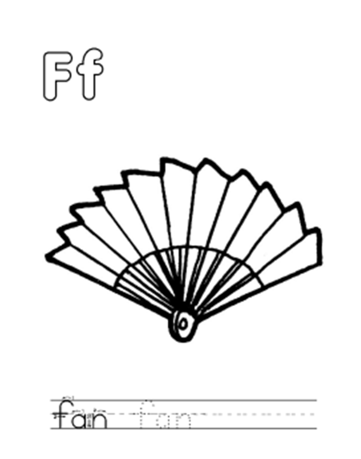 fan coloring page - fan coloring page az coloring pages