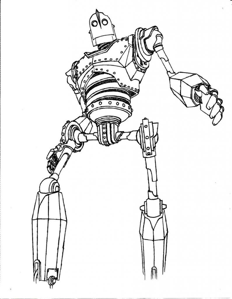 coloring pages iron giant boy - photo#14