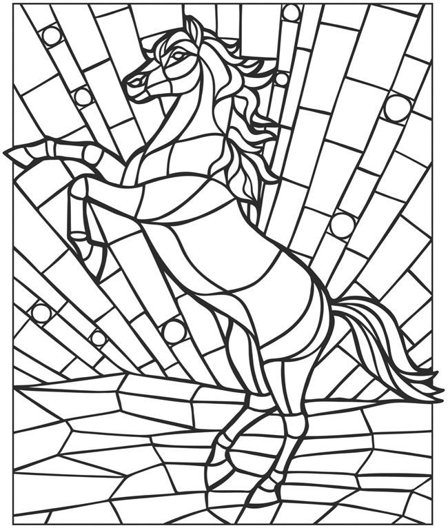 Mosaic Coloring Pages Of Animals - Coloring Home