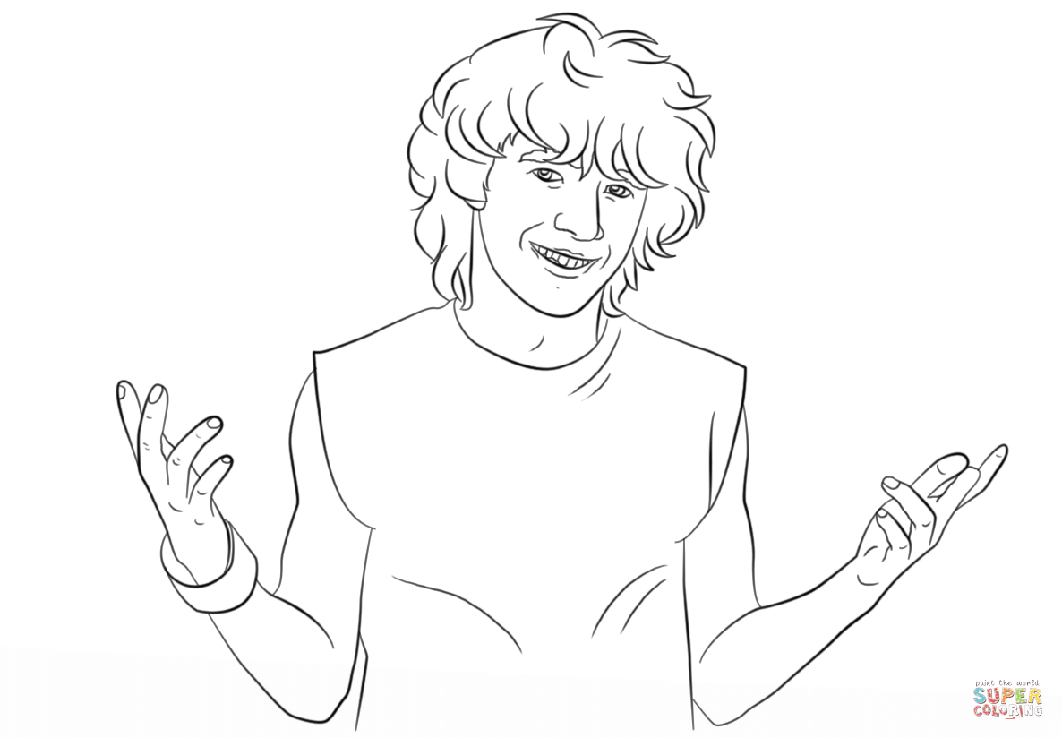 Uncategorized Zoey 101 Coloring Pages logan reese from zoey 101 coloring page home page