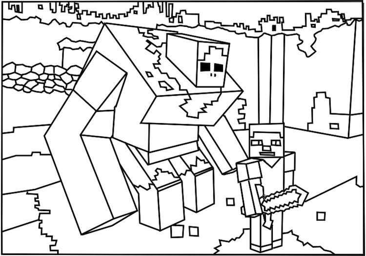 minecraft print out coloring pages - photo#43