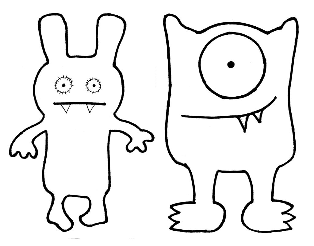 Ugly dolls coloring pages az coloring pages for Template monste