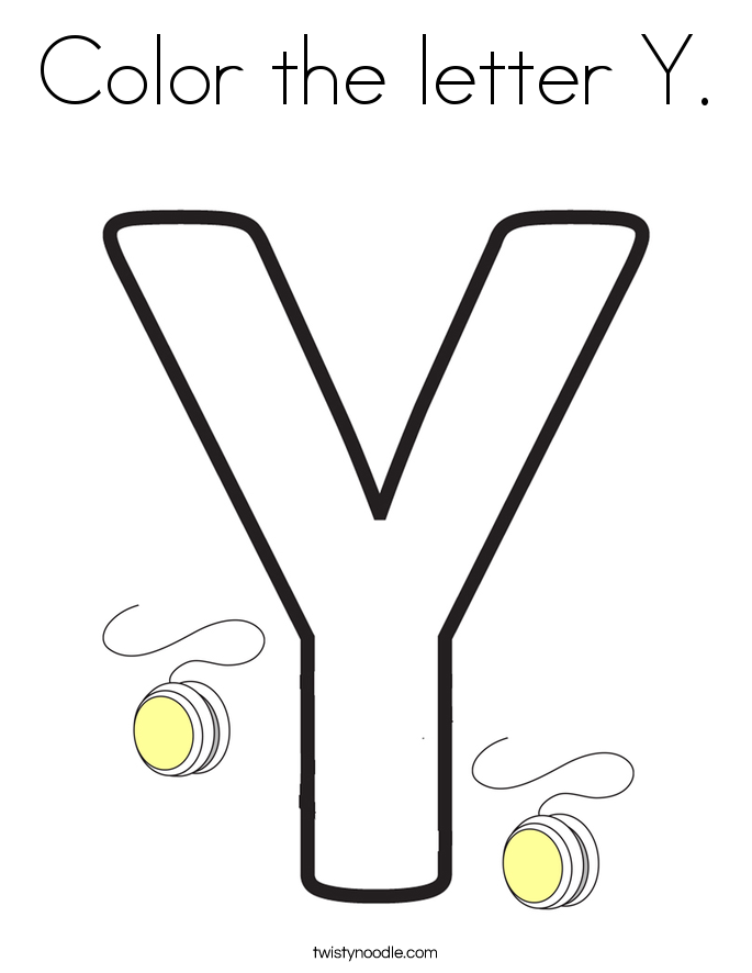 Y coloring page coloring home for Letter y coloring pages free