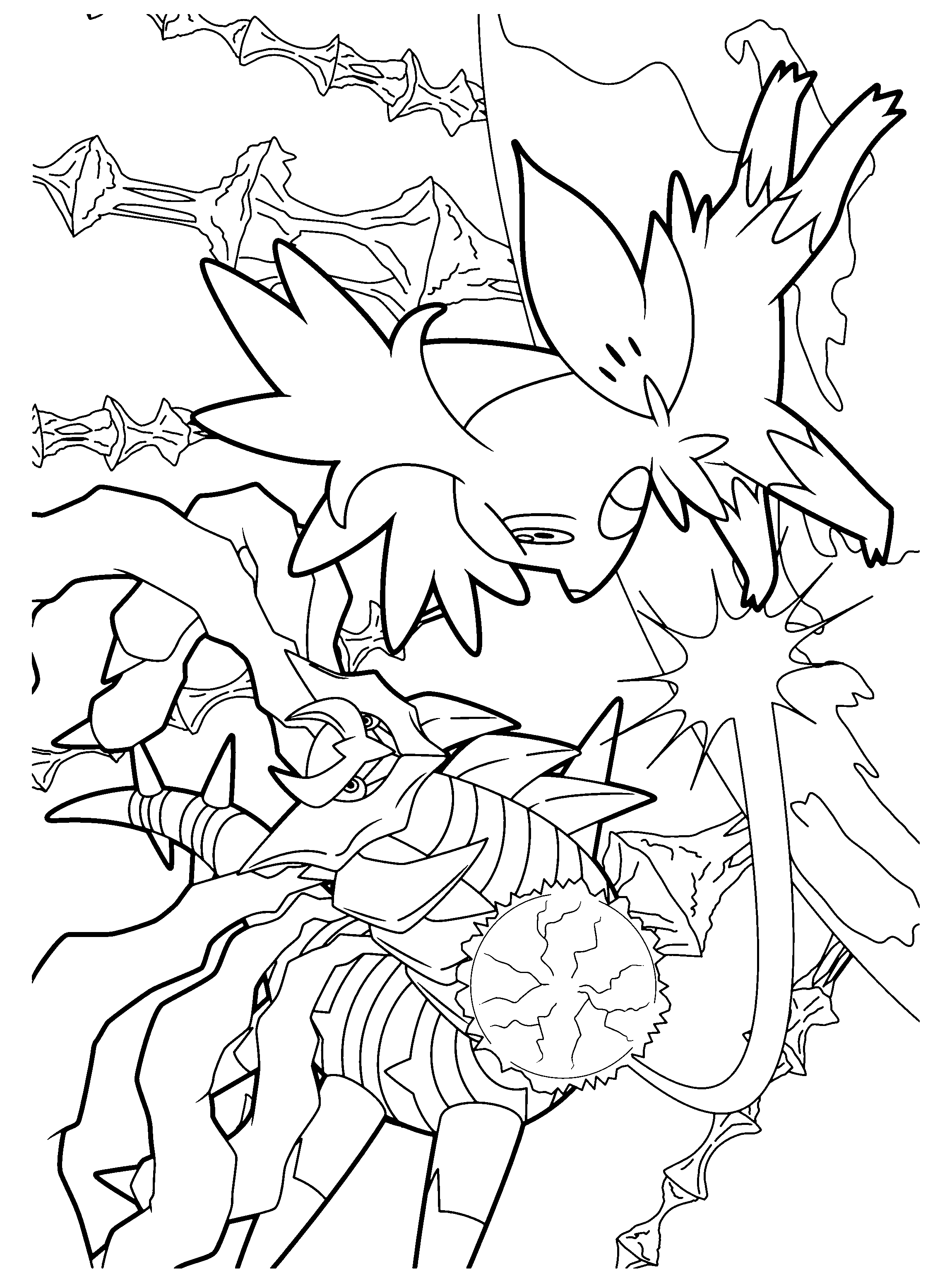 coloring pages giratina - photo#18
