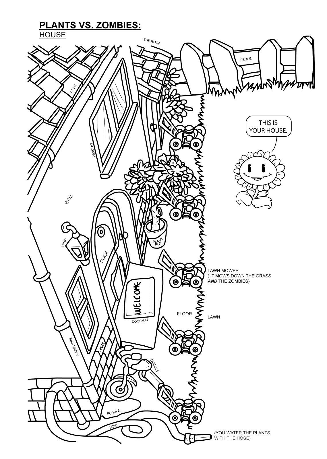 plants vs zombies 2 coloring pages coloring home