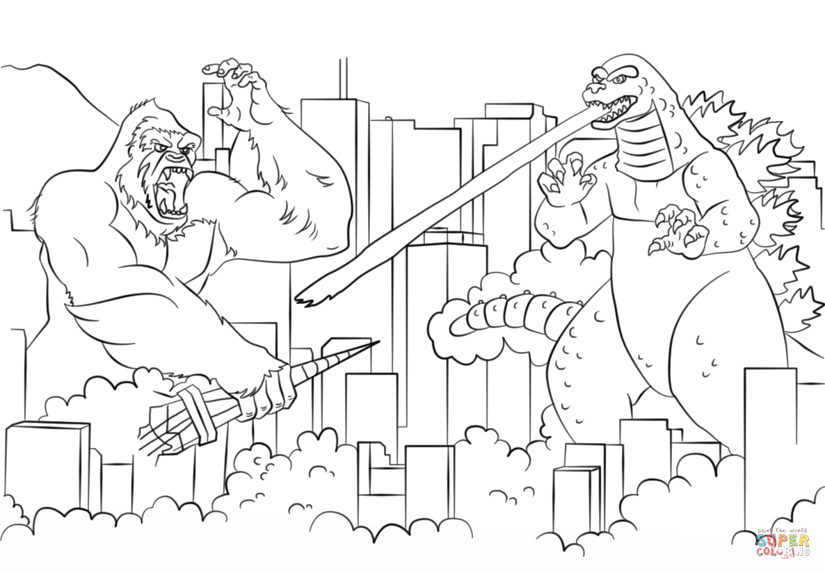 godzilla coloring pages - photo#36
