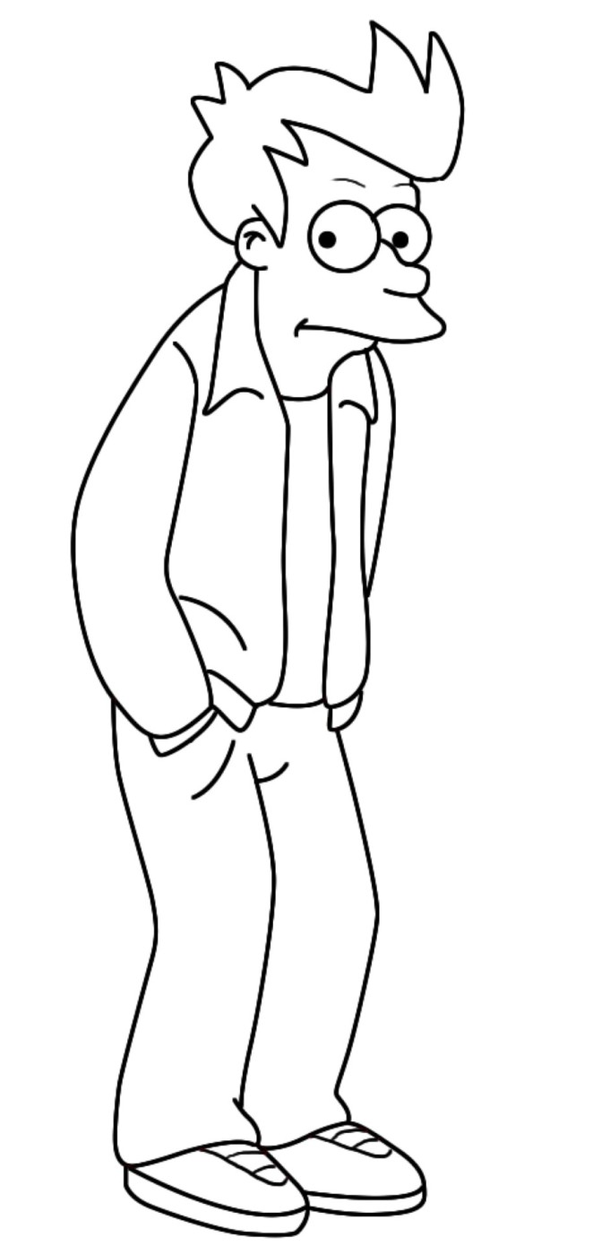 Fray Futurama coloring page