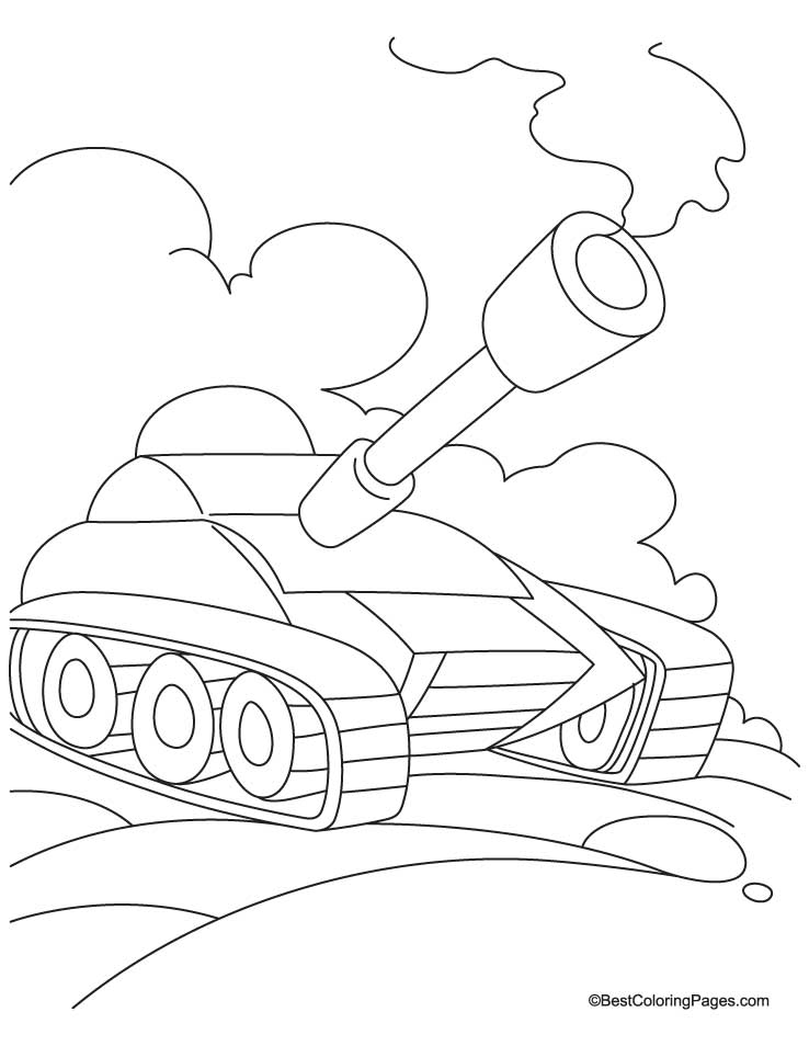 Army tanks coloring pages coloring home for Tank coloring page