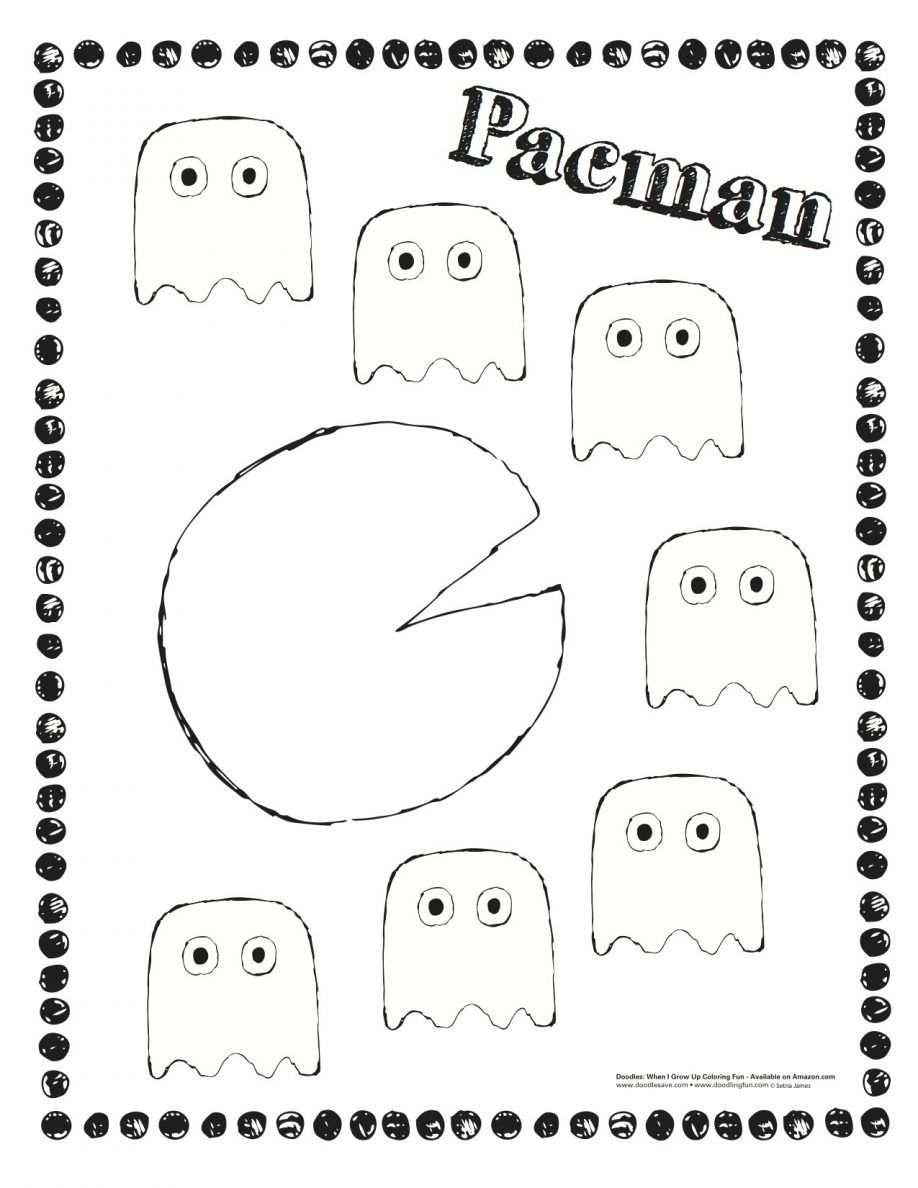 19 Free Pictures for: Pac Man Coloring Pages. Temoon.us