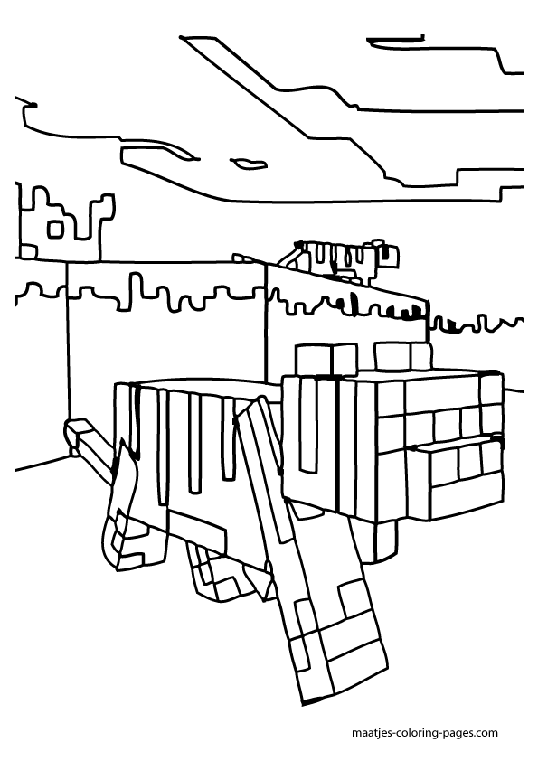 Minecraft Horse Coloring Page Coloring Home