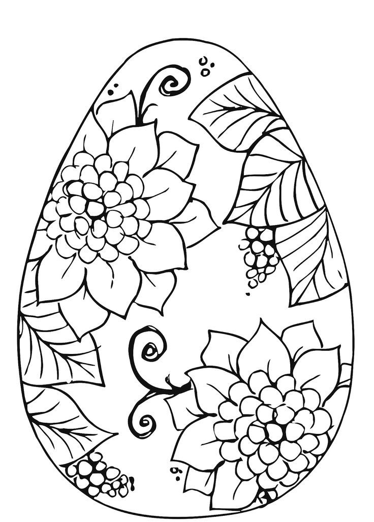 Easter Egg S - Coloring Pages for Kids and for Adults