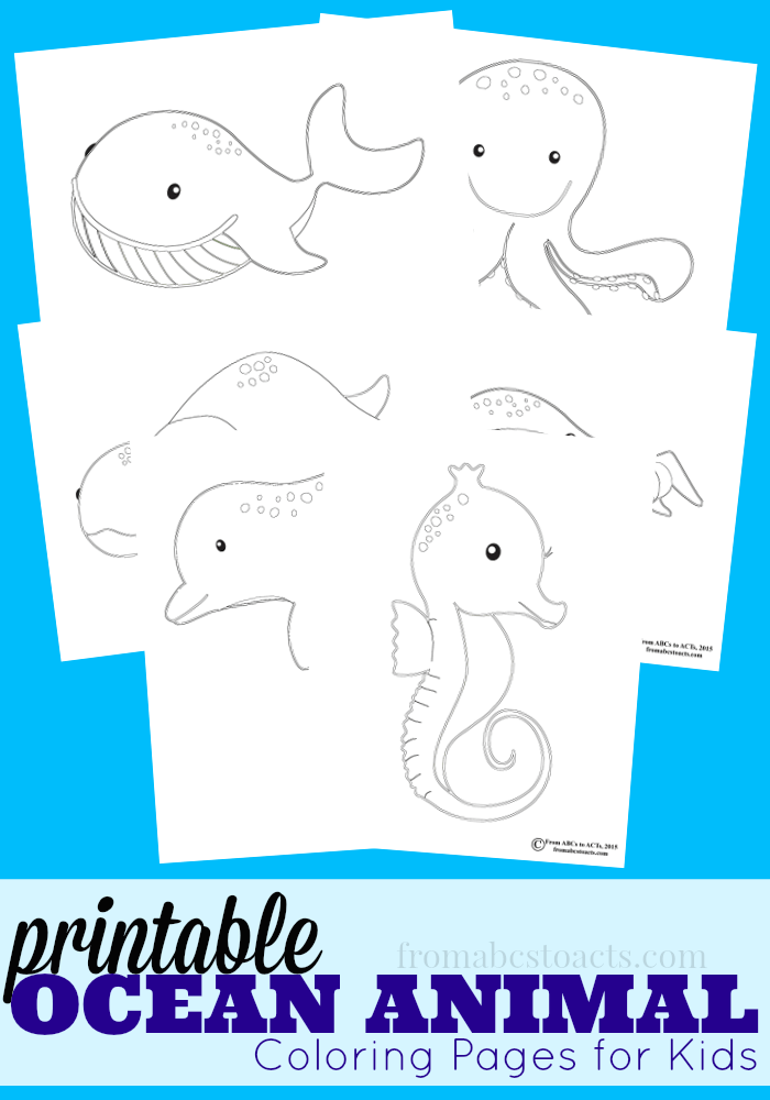 Ocean Animal Coloring Pages - From ABCs to ACTs