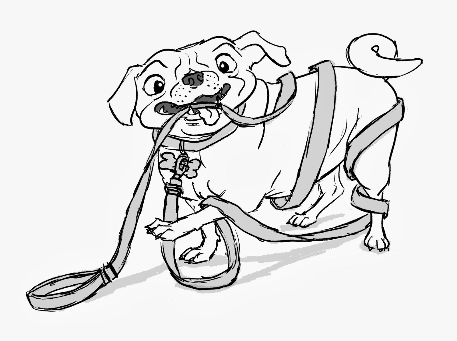 Coloring Pages Pugs