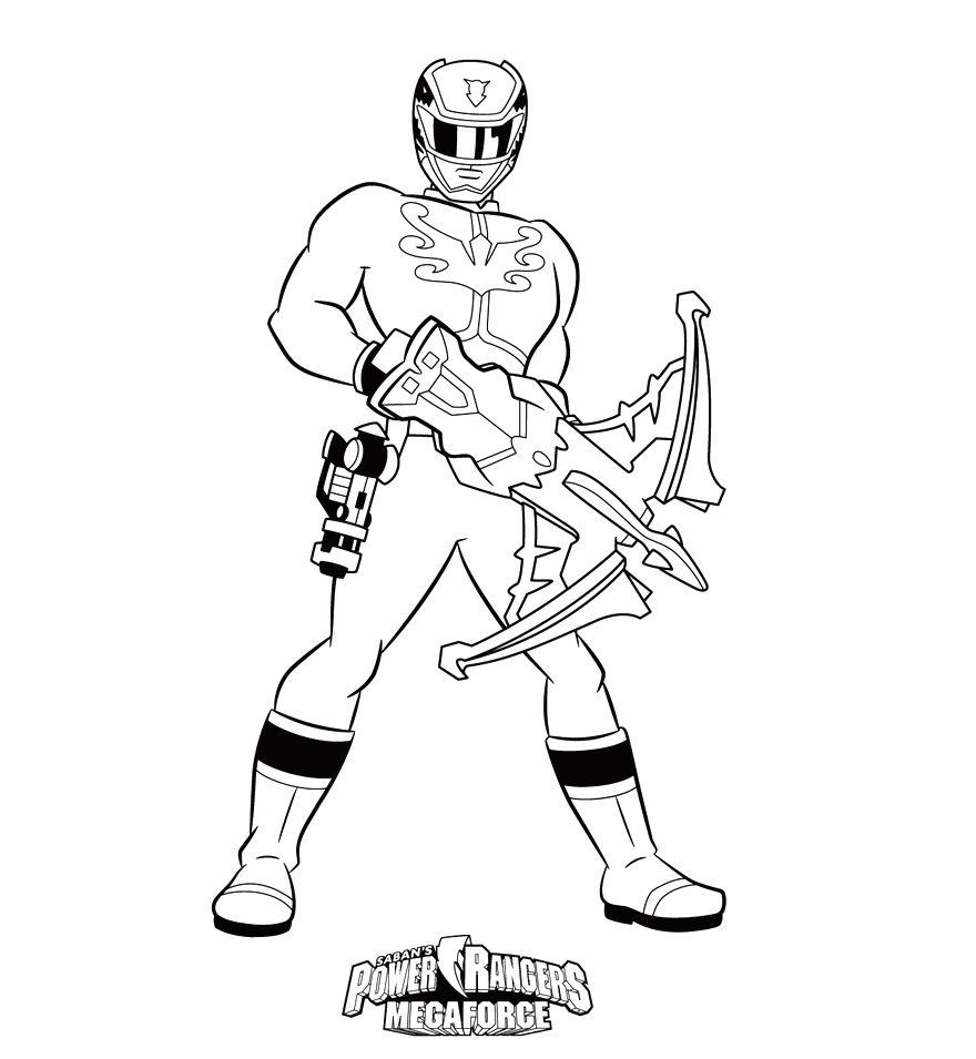 Megaforce Power Rangers Coloring Pages Printable
