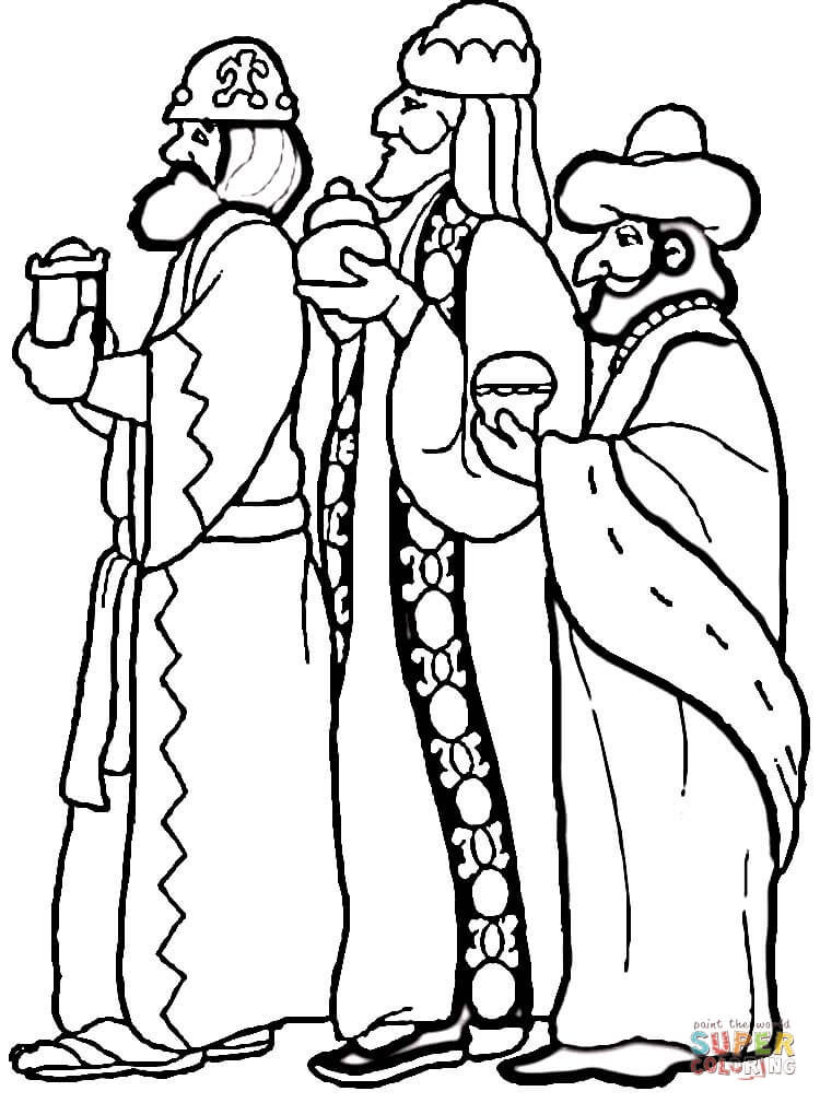 3 Wise Men coloring page | Free Printable Coloring Pages