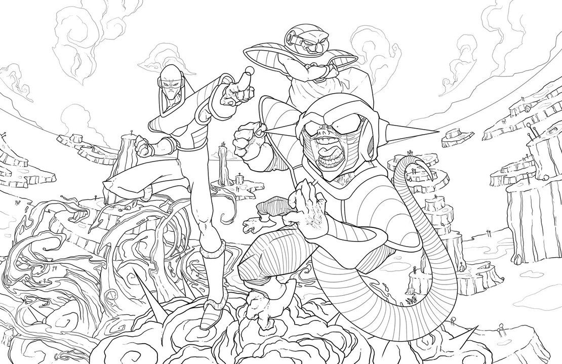 Dragon Ball Z : Resurrection Of F - lineart by Rotten15Samke on ...