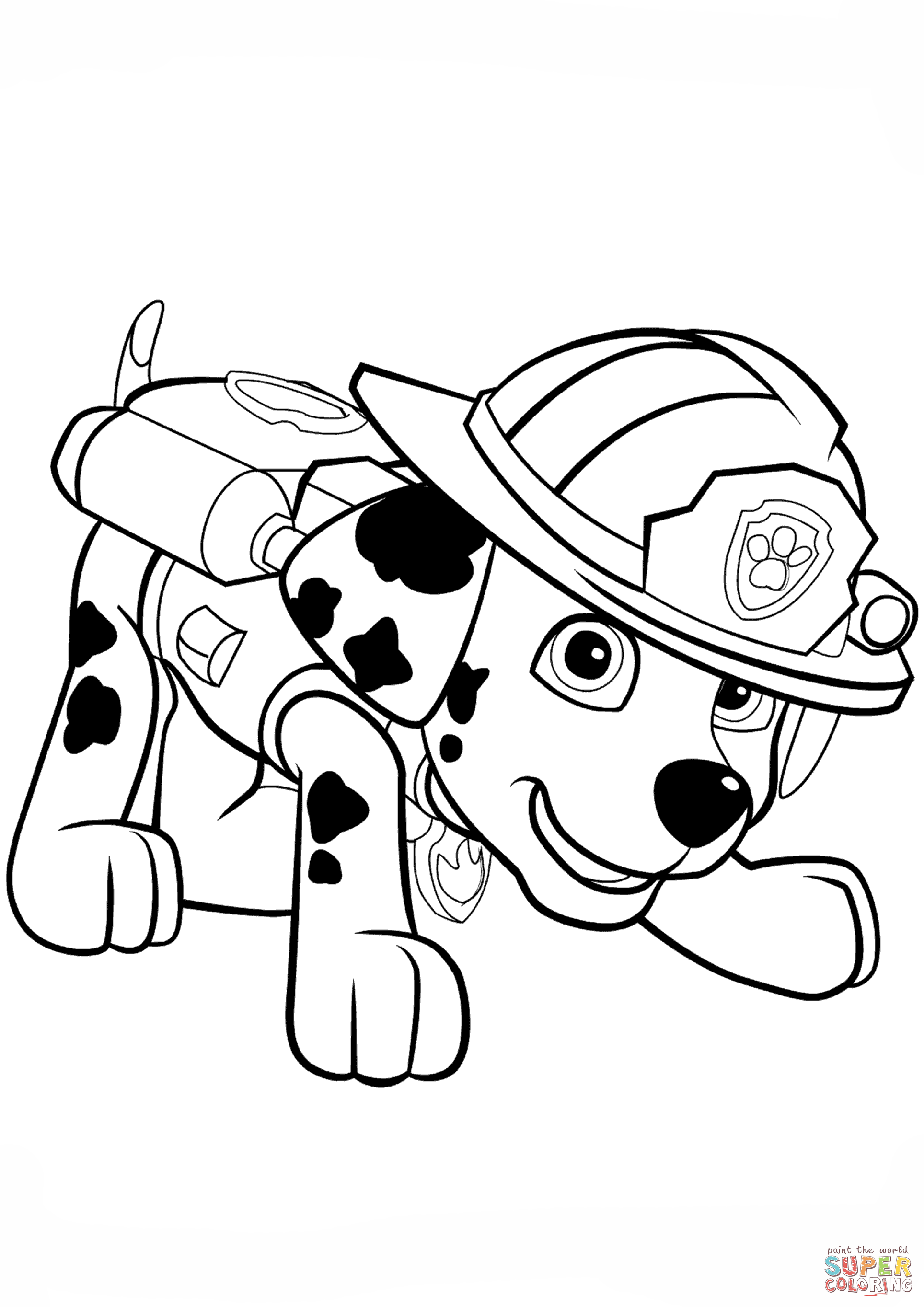 Paw Patrol Truck Coloring Pages : Paw patrol coloring pages marshall and firetruck