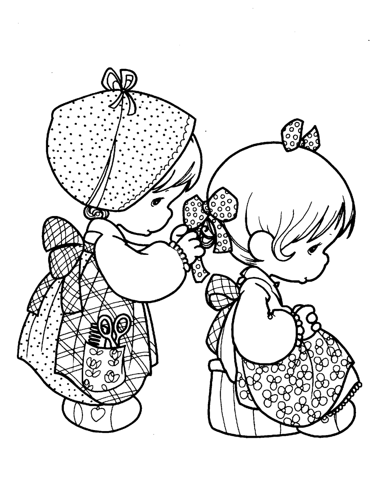 Printable 13 Precious Moments Praying Coloring Pages 7336