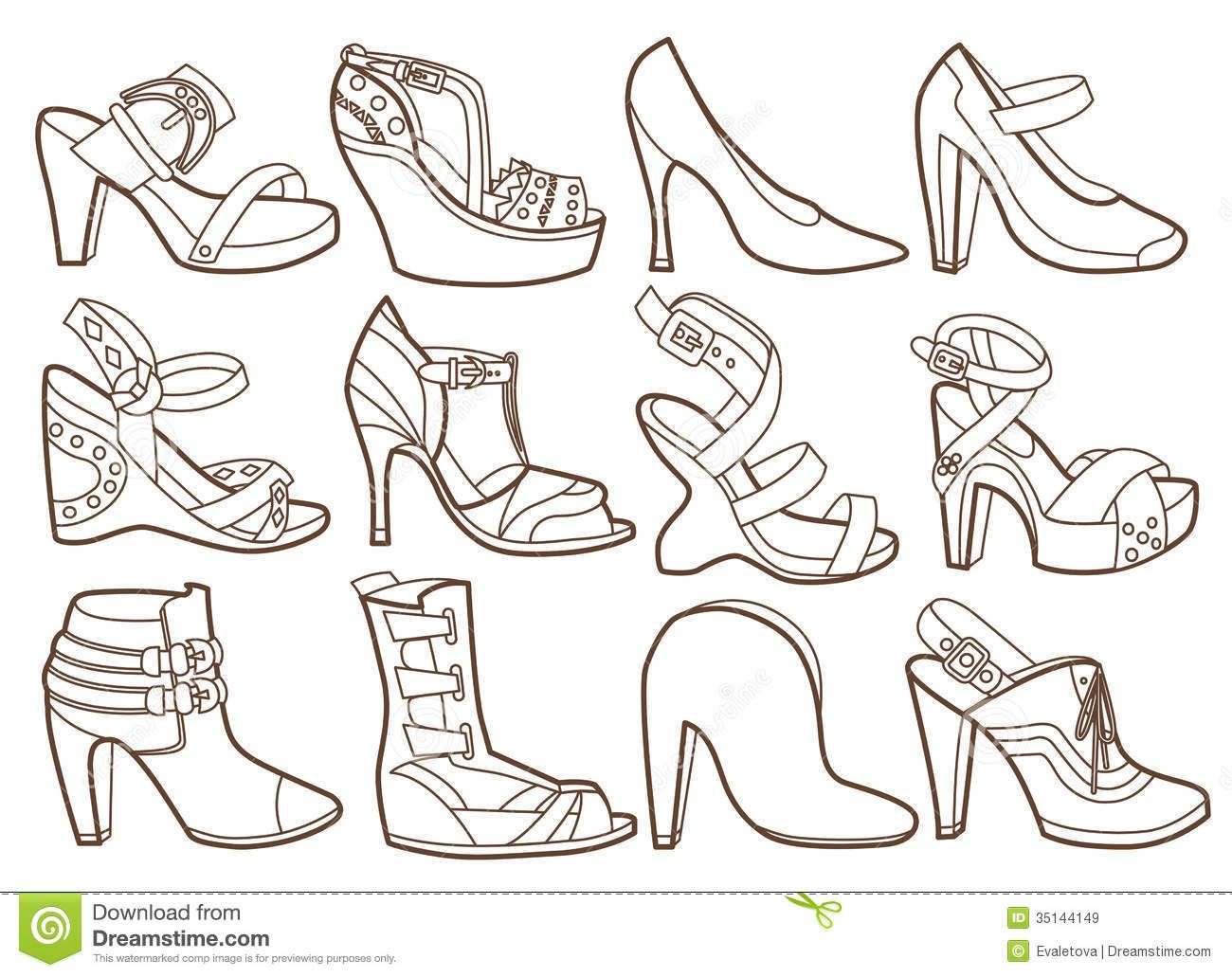 Shoe Coloring Pages Coloring Home