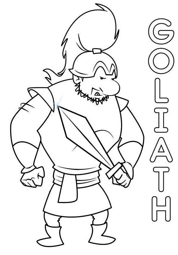 David And Goliath Coloring Pages Coloring Page Coloring Home