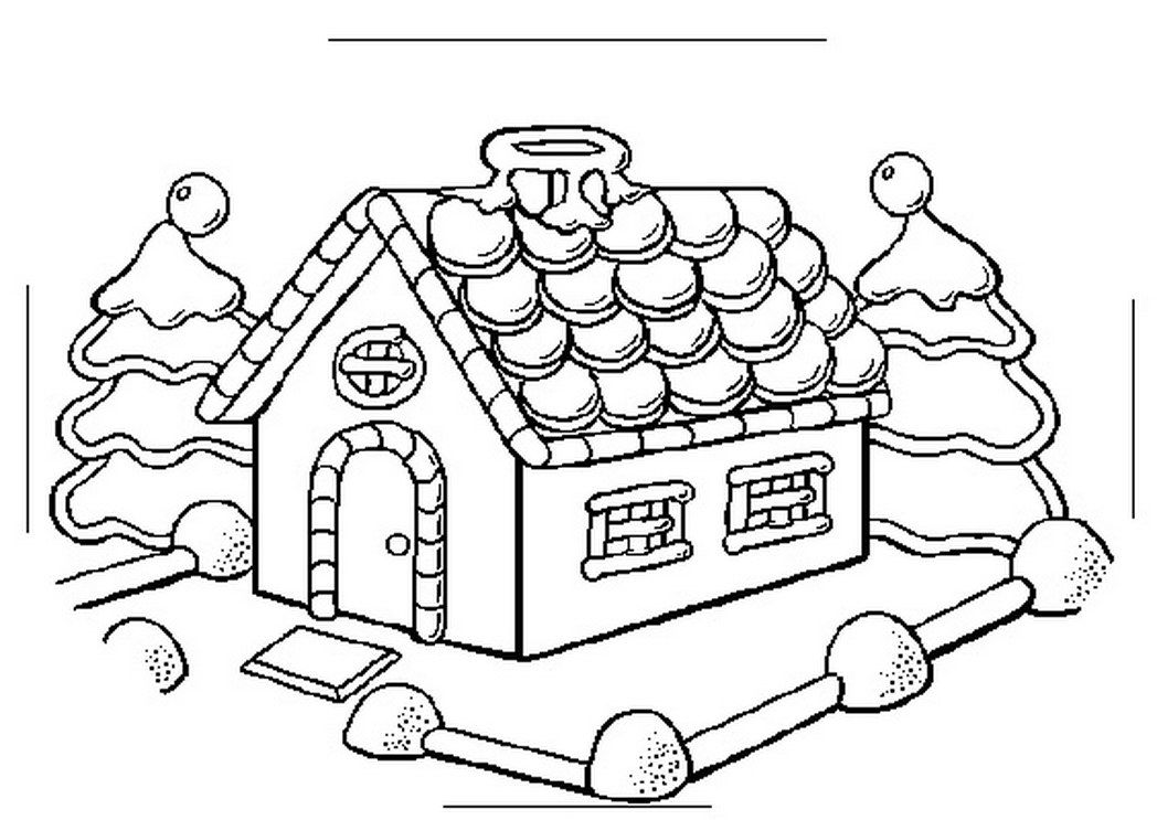 Christmas coloring pages gingerbread house coloring home for Gingerbread house coloring pages