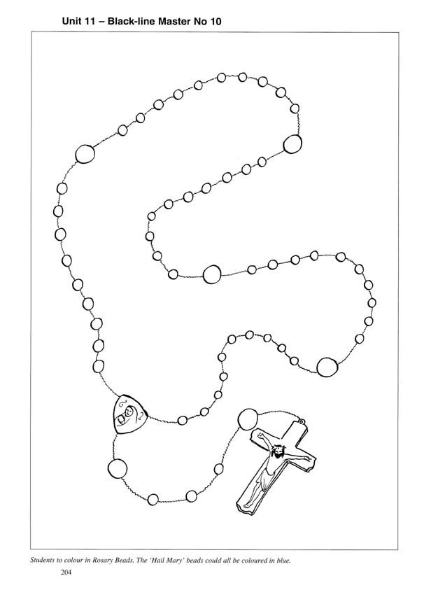 rosary coloring page printable