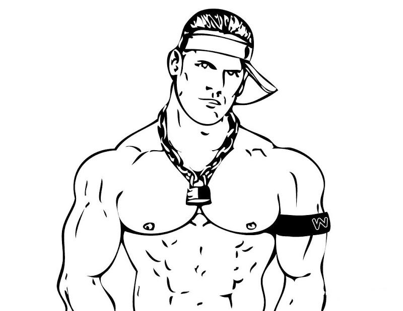 Coloring Pages Of John Cena | Best Coloring Pages