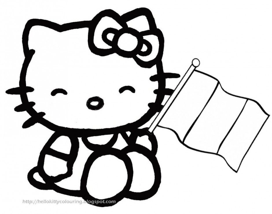 And White Clip Art Hello Kitty Black Az Coloring Pages