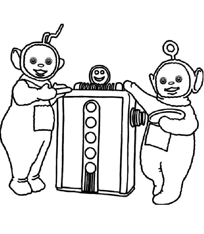 Coloring pages teletubbies - picture 10