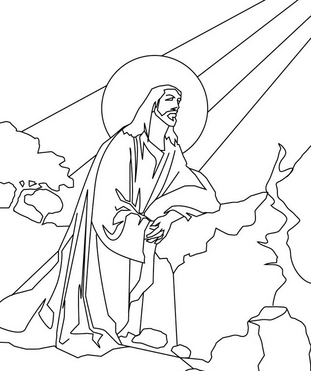 coloring pages miracles of jesus - photo#20