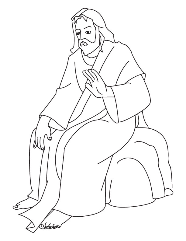 jesus rocks coloring pages - photo#10