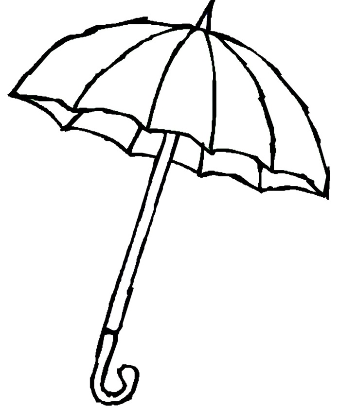 Printable Umbrella AZ Coloring