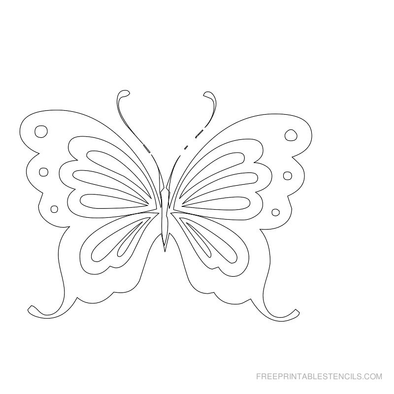 Butterfly template to print az coloring pages for Printable butterfly template