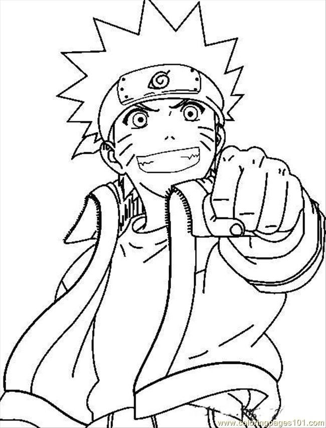 Naruto coloring pages | Print and Color.com | 855x650