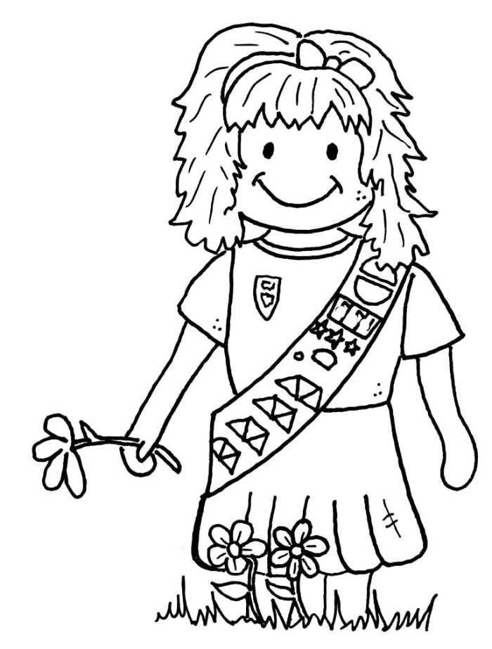 Brownie Girl Scout Coloring Pages Az Coloring Pages Scout Coloring Sheet Printable