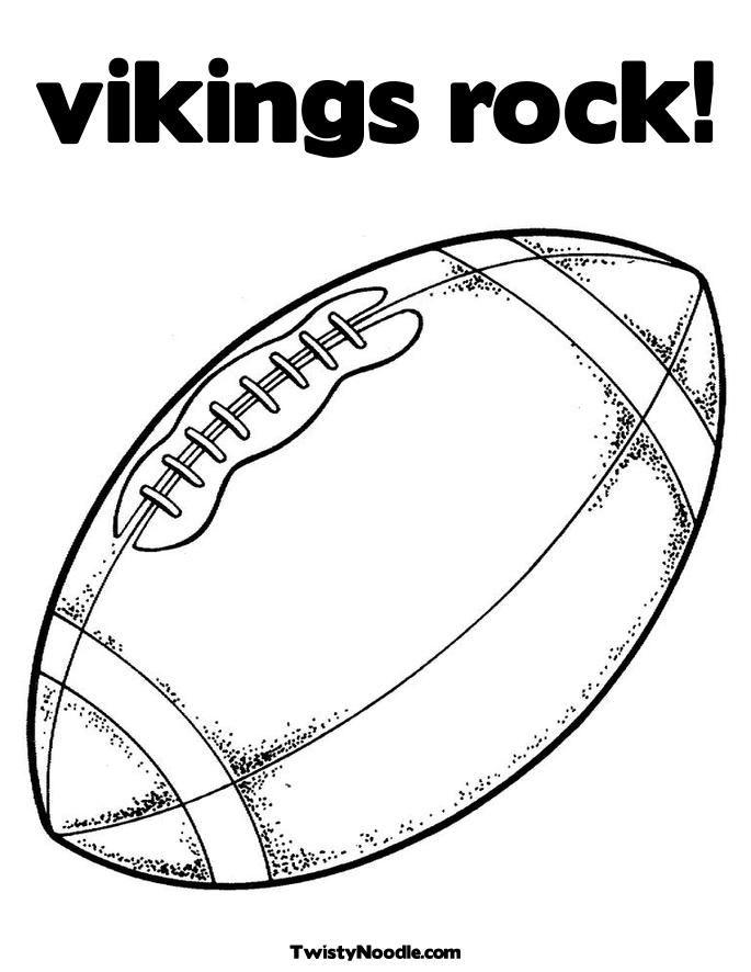 vikings football coloring pages - photo #3