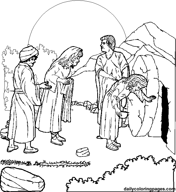 jesus resurrection coloring page - crucifixion and resurrection of jesus christ coloring pages