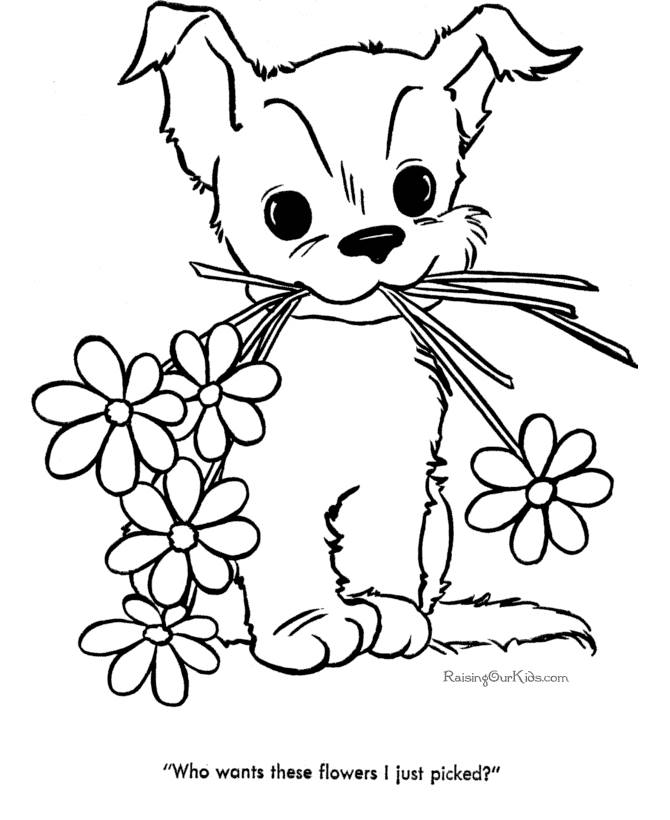 Cute Drawings To Color | kids drawing coloring page
