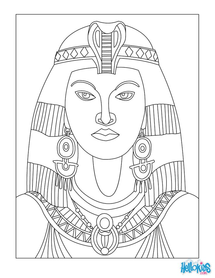 Cleopatra coloring page | Ancient Egypt for Kids