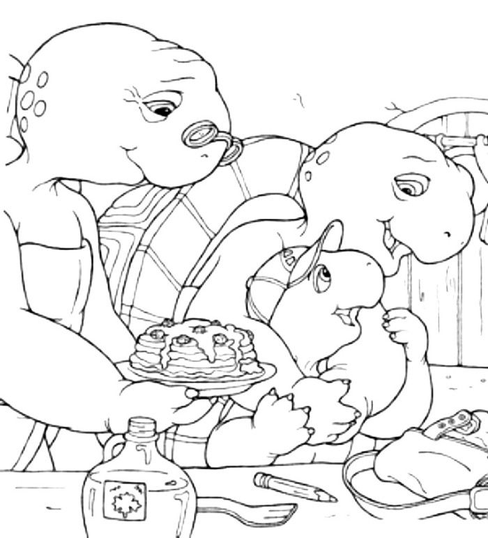 franklin the turtle coloring pages - photo#7