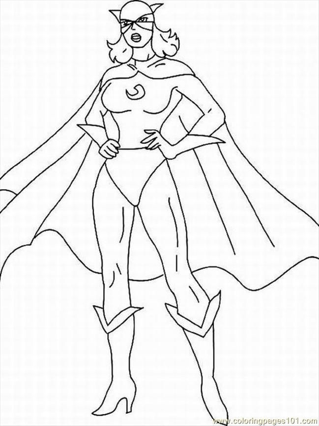 free superhero coloring pages online - photo#16