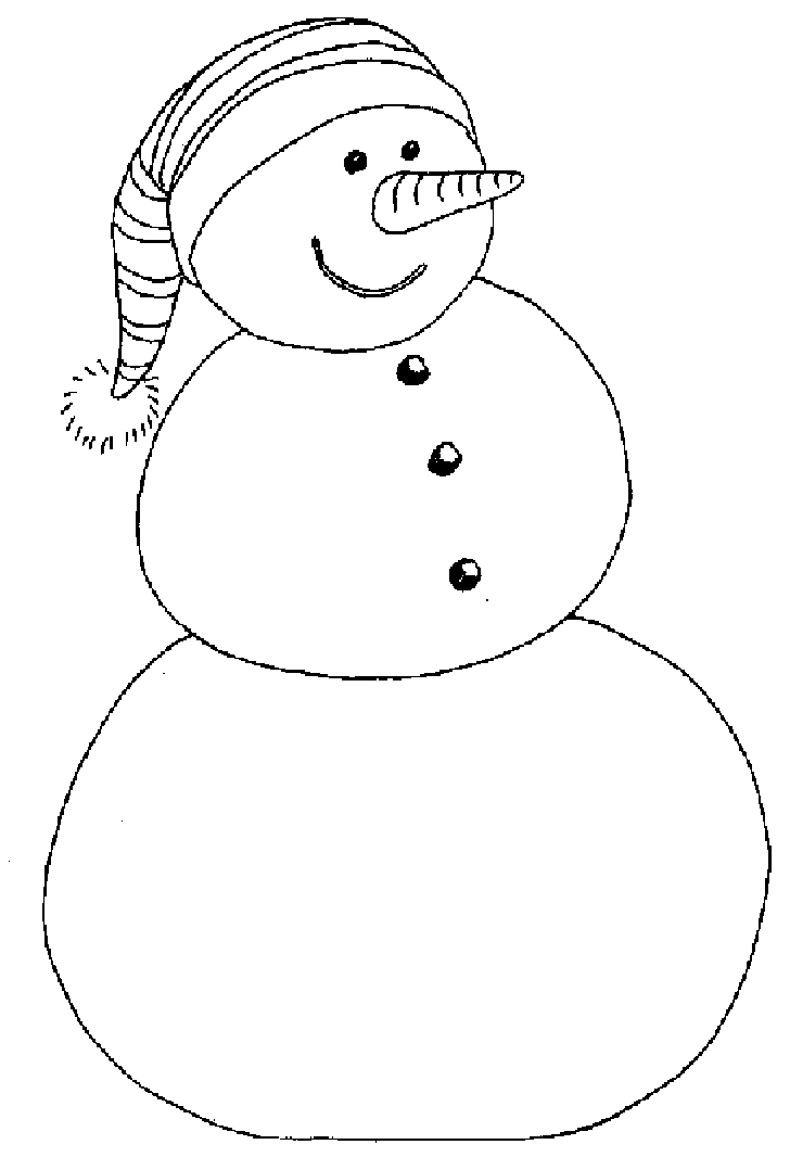 snowmen coloring pages children - photo#34