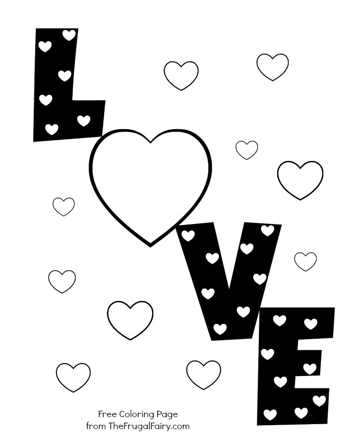 Love You Printable Coloring Pages : Love Heart Coloring Pages AZ Coloring Pages