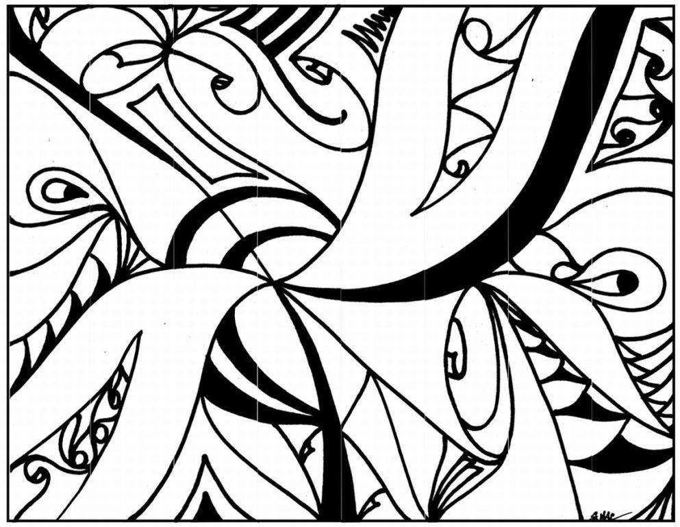 Abstract Cross Coloring Pages : Abstract coloring pages for teenagers printable
