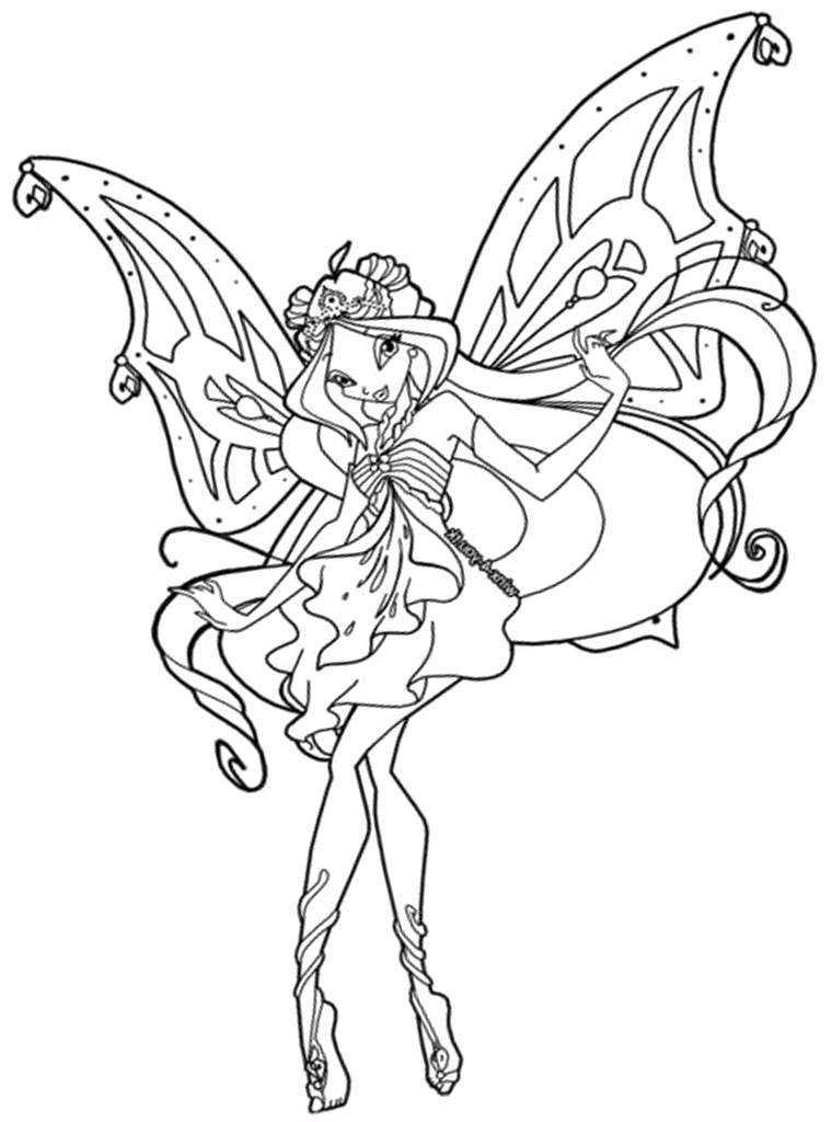 Winx Club Coloring Pages Enchantix