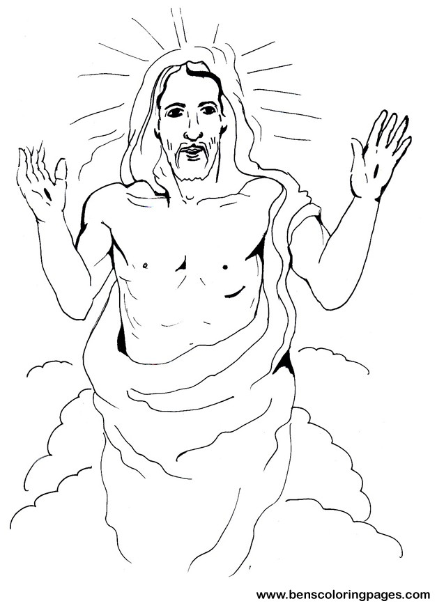 Easter Coloring Page Jesus AZ Pages