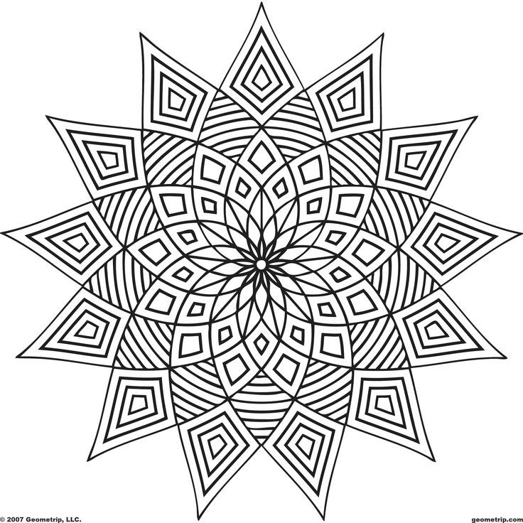 Colouring In Simple Patterns : Easy Geometric Coloring Pages Coloring Home