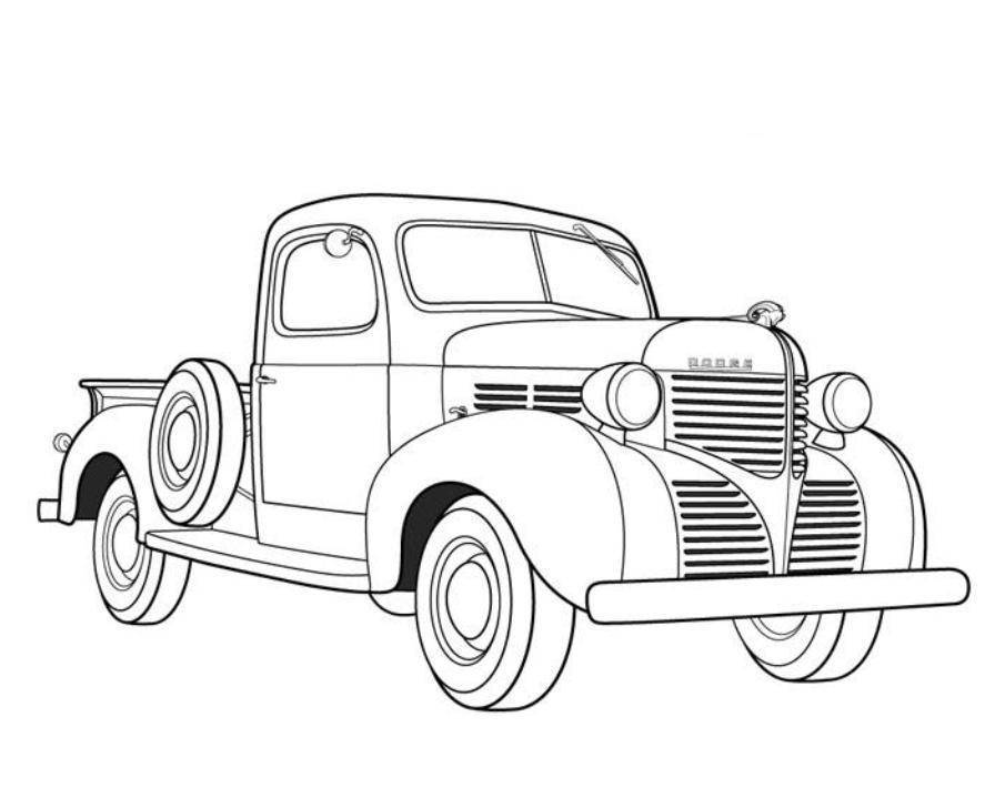 car and truck coloring pages - photo#14
