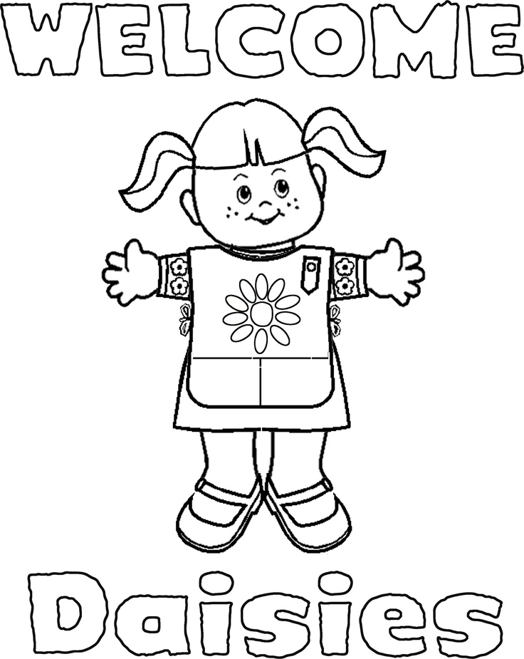 girl scout coloring pages for daisies girl scouts coloring pages az coloring pages