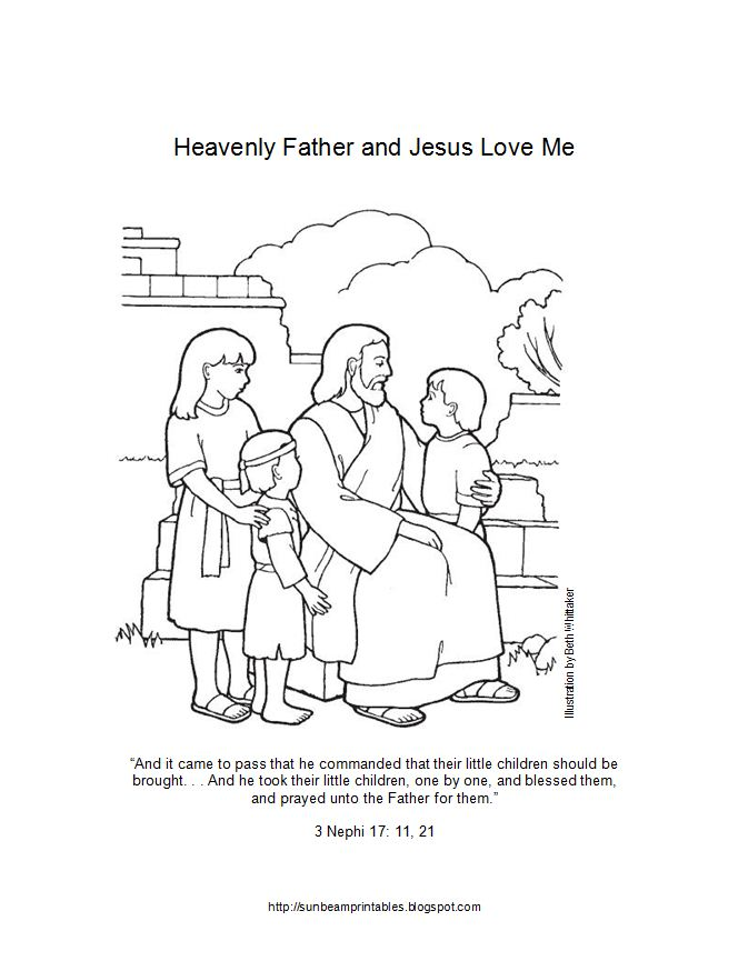 Sunbeam Printables: Coloring Page for Lesson 6: Heavenly Father